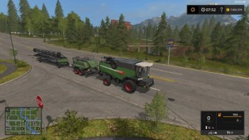 Fendt 9490X with baler attacher FS17