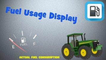 Fuel Usage Display FS17
