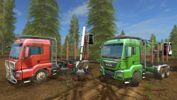 MAN TGS 33.440 Forestry Truck & Trailers v0.9 FS17