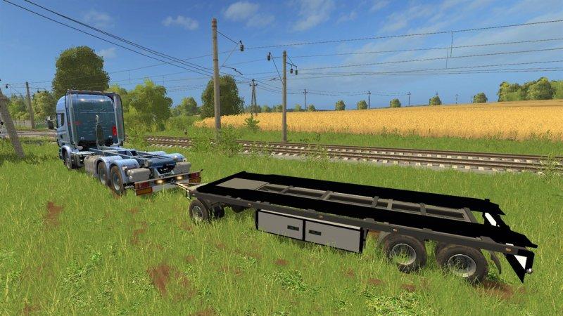 Scania V8 Hkl With Rail Trailer Mod Mod For
