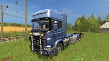 Scania V8 HKL with rail Trailer FS17