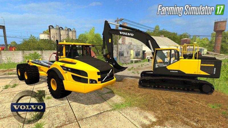 Volvo EC300E Excavator & A40 Truck Pack - Mod | Mod for Farming Simulator 17 | LS Portal