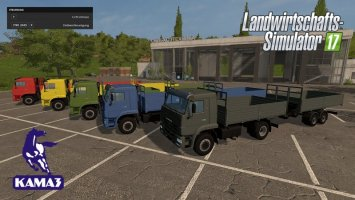 Kamaz and Trailer Set
