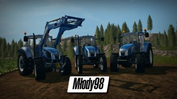 New Holland T5 Tier 4A + New Holland 750TL FS17