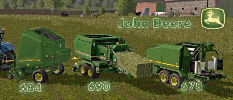 John Deere Balers Pack (684/690/678) FS17