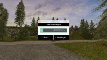 MoneyCheat Mod with GUI FS17