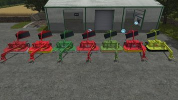 Trailed mower pack