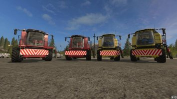 Front shield for combines v1.0.0.1 FS17