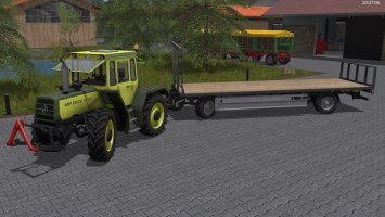 Fliegl bale trailer FS17