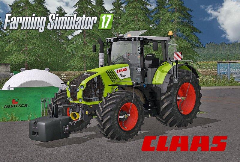 Claas Axion 800 Series Full Pack FS17