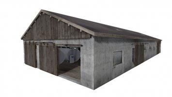 Milk cowshed with milking parlor