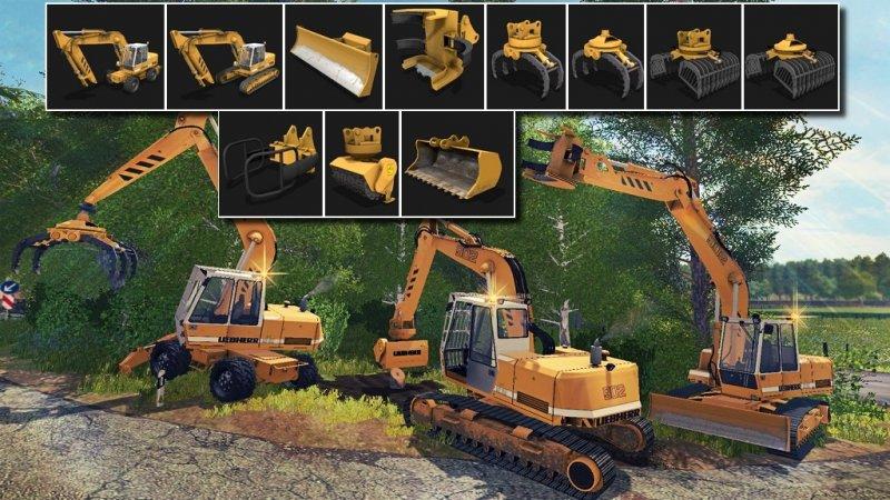 Bagger Liebherr 902 Pack Fs17 Mod Mod For Landwirtschafts