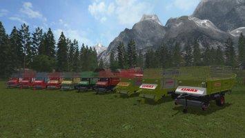 Old Forage Wagons v1.1 fs17