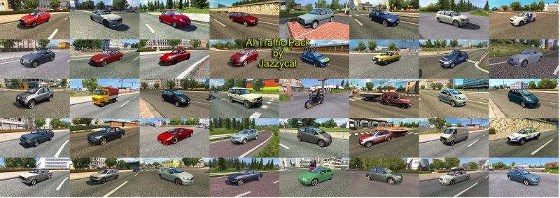 AI Traffic Pack by Jazzycat v7 1 - ETS2 Mod | Mod for Euro