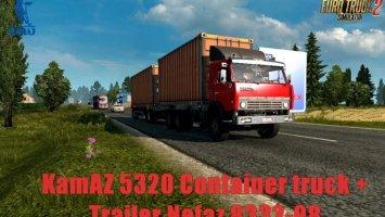 Kamaz 5320 Container Truck + Trailer Nefaz 8332-08 ets2