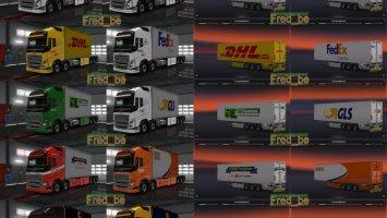 Pack Volvo FH 2012 Tandem (25 meters) 1.30.Xs ets2