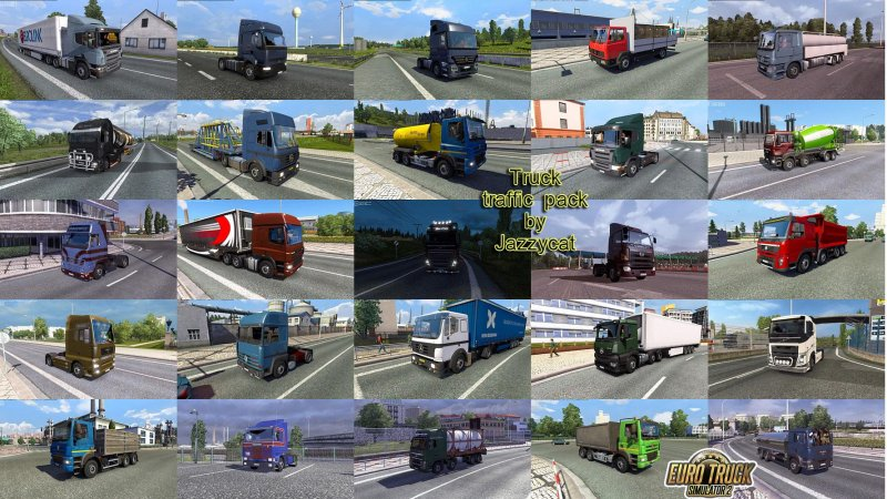 Truck Traffic Pack by Jazzycat v2 9 - ETS2 Mod | Mod for