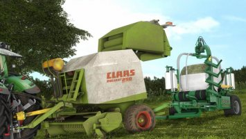 Claas Rollant 250 With Bale Wrapper Arm
