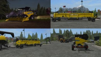 New Holland cutters and trailer fs17
