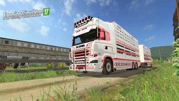 Scania R730 cattle truck v1.0 fs17