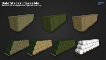 Bale Stacks Placeable FS17