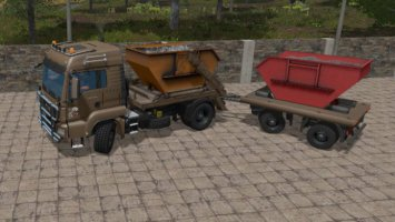 MAN Skip Truck with Container fs17