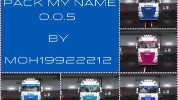 Pack My Name 0.0.5 Skin For ETS2 1.31.2.2 + DLC ets2