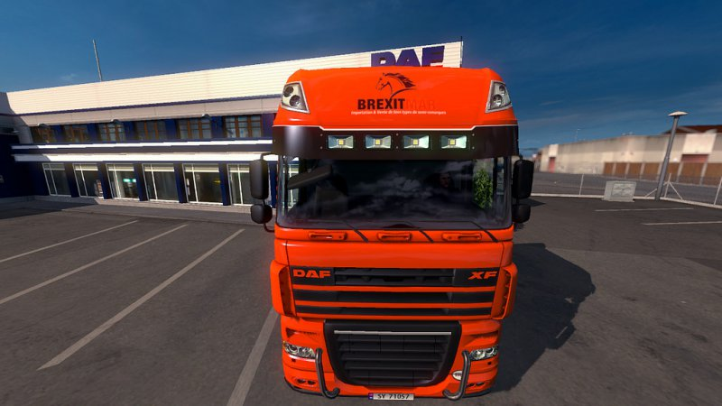 Daf XF 105 Skin brexitmar For ETS2 1 31 - ETS2 Mod | Mod for