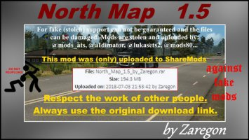 North Map 1.5 ets2