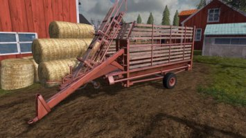 Old bale trailer fs17