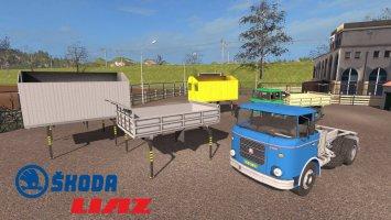 Skoda Liaz 706 mit Wechselbrücken-Aufbauten 1.1.0.3 fs17