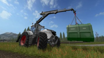 PONSSE REAR MOUNTED CRANE + LIFTING HOOK CRANE V1.4 fs17