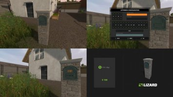 Customisable Letterboxes fs17
