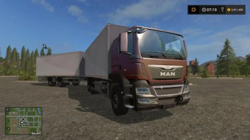 MAN Palletloader Truck + Trailer