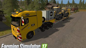 MB Actros SZM Cat + Doll Tieflader Cat fs17