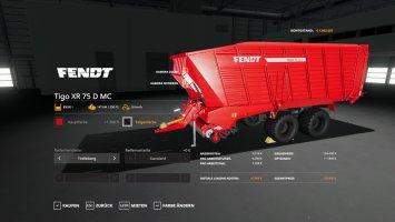 Fendt TigoXR75 - MultiColor 80.000l fs19
