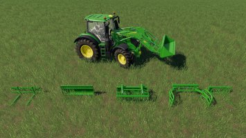 John Deere front loader attachments set