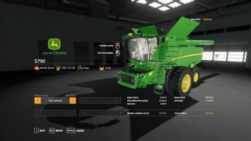 John Deere S790 with SeatCam fs19