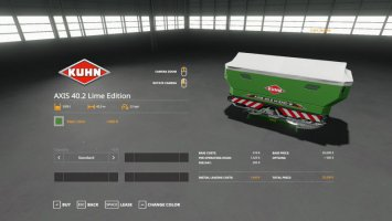 Kuhn Axis 40.2 Lime Edition v1.0.0.1 fs19