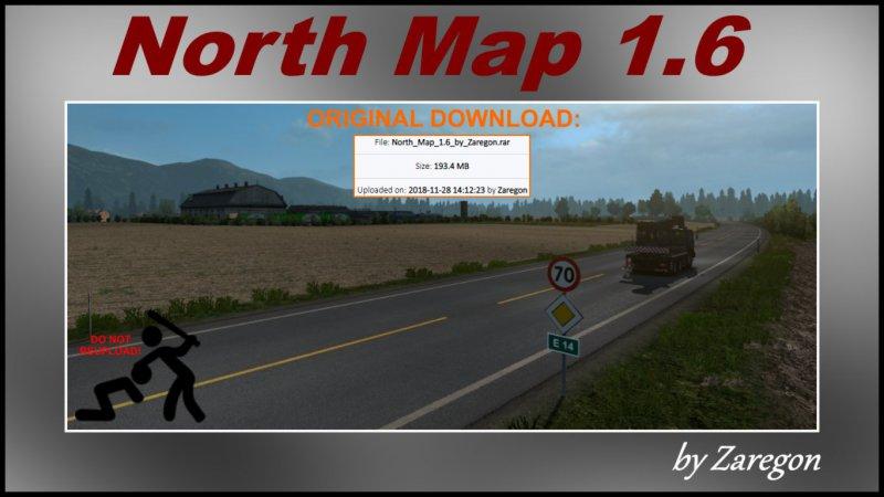 North Map 1.6 ETS2
