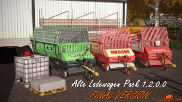 Old forage wagons pack v1.2.0.0 fs17