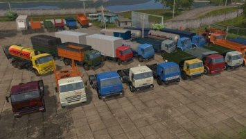 Pack Kamaz for Map Russia v1.2 fs17