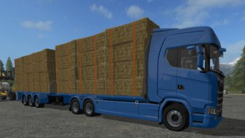 Scania S Flatbed and Matching Trailer fs17
