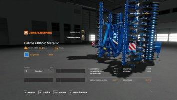 Amazone Catros 6002 - MetallicEdit fs19