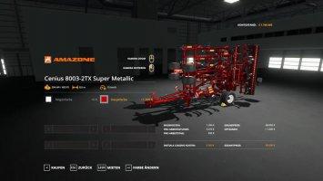 Amazone Cenius 80032 TXSuper - MetallicEdit fs19