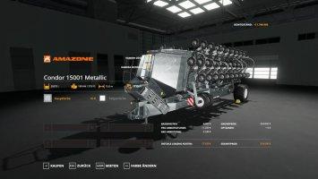 Amazone Condor 15001 - MultiFruit - MetallicEdit FS19