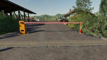 Automatic barrier placeable