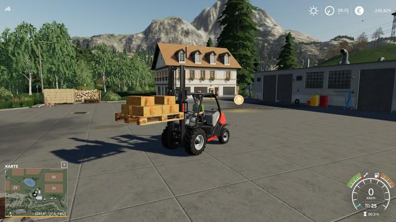 Europoolpallet with tension belts FS19