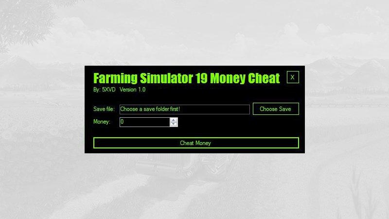 Farm Simulator 19 Money Cheat by 5XVD FS19