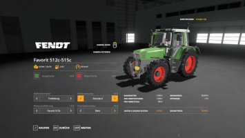 Fendt Favorit 512c-515c v1.2.2 fs19